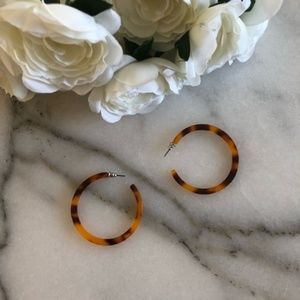 Jewelry - Large Tortoise Hoop Earrings